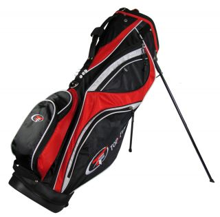 New Top Flite Golf Stand Bag Golf Bag Black Red White