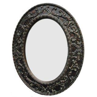 Uttermost Tivona Oval Beveled Mirror in Dark Chestnut