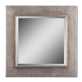 Uttermost Mario Rectangular Beveled Mirror in Silver Leaf