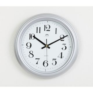 Maples Clock 13 Silver Color Framed Wall Clock