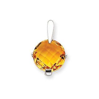 Jewelryweb 14k White Gold Cross Pendant18x12mm   TLP130854NC