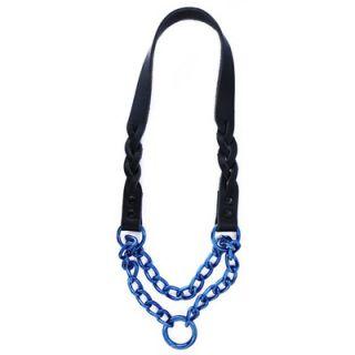Platinum Pets 15 Braided Leather Martingale Dog Collar