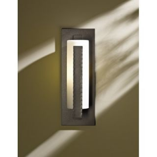 Hubbardton Forge 18.8 One Light Outdoor Wall Sconce in Dark Smoke