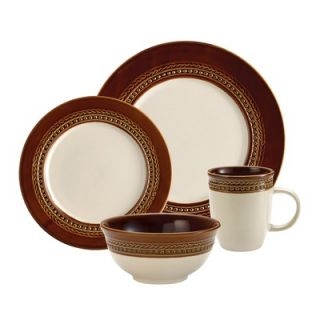 Paula Deen Dinnerware Southern Charm 16 Piece Dinnerware Set in Brown