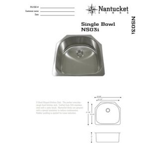 Nantucket Sinks 18 Gauge Stainless Steel D Shape Undermount Kitchen