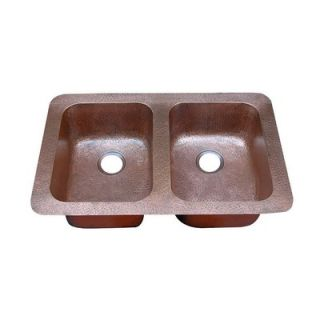 Yosemite Home Decor Hammered Double Bowl Undermount or Topmount Copper