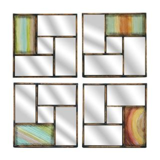 Crestview Metal Wall Mirror (Set of 4)   CVMRA277