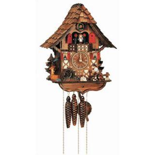 Schneider 14 Chalet Cuckoo Clock with Moving Woodchopper, Water Wheel