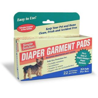Simple Solution Dog Diaper Garment Pads (22 Count)