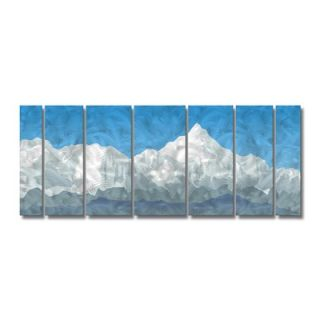 Abstract Mountain by Ash Carl Metal Wall Art   23.5 x 60   SWS00096