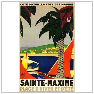 Maxime by Roger Broders, Traditional Canvas Art   32 x 24