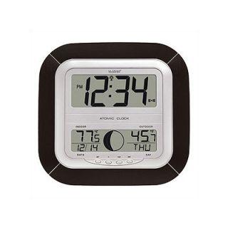 La Crosse Technology Atomic Digital Wall Clock with Moon Phase