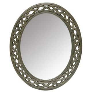 Crestview Oval Cutout Frame Wall Mirror   CVMRC013A