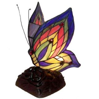 Warehouse of Tiffany Yellow Butterfly Table Lamp (Set of 2)