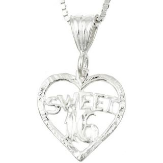 Evalue Jewelry Sterling Essentials Sterling Silver Sweet 16 Heart