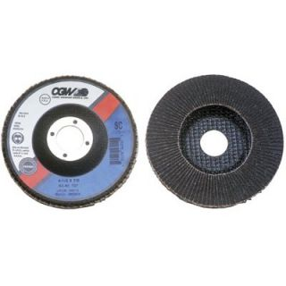 CGW Abrasives Flap Discs, Silicon Carbide, Regular   4 x 5/8 sc 240