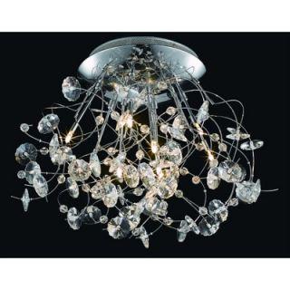 Elegant Lighting Iris 9 Light Ceiling / Semi Flush Mount   2071F31C