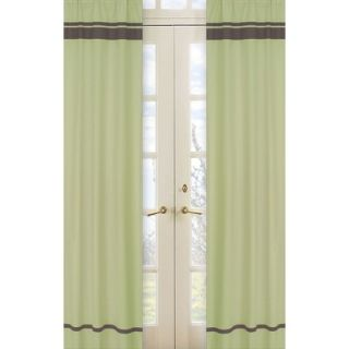 Sweet Jojo Designs Green and Brown Hotel Window Panels (Set of 2