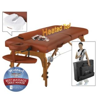Master Massage 31 Santana Therma Top LX Massage Table in Mountain Red