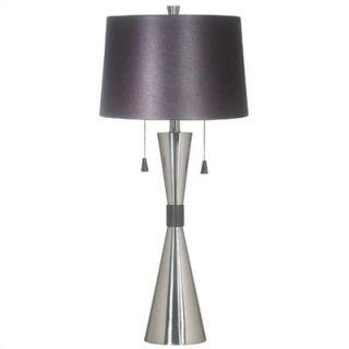 Kenroy Home Bella 32 Table Lamp in Brushed Steel