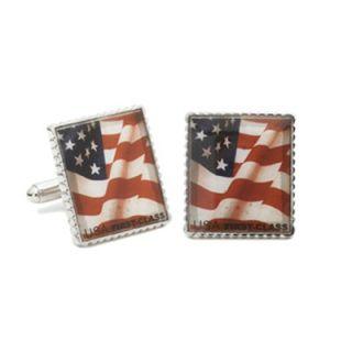 Penny Black 40 American Flag Stamp Cufflinks   PB AF SL