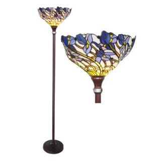 Chloe Lighting Tiffany Style Iris Torchiere Floor Lamp   CH38B01TF