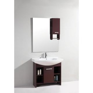 Legion Furniture 35.5 Single Bathroom Vanity Set with Mirror in