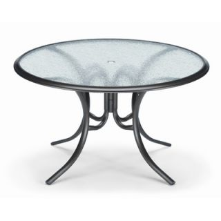 Telescope Casual 50 Round Glass Top Dining Height Table