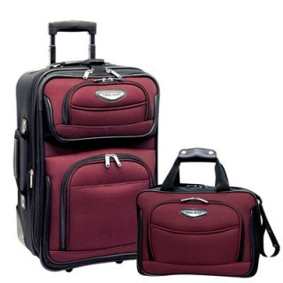 Travelers Choice Amsterdam 2 Piece Carry On Luggage Set