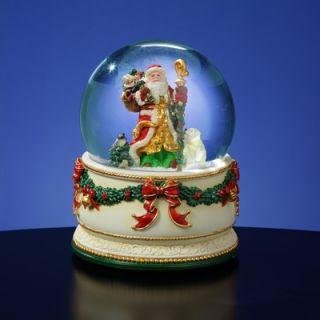 San Francisco Music Box Holiday Treasures Christmas Journey Snow Globe