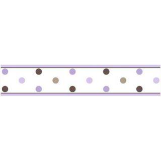 Sweet Jojo Designs Purple and Chocolate Mod Dots Wall Paper Border