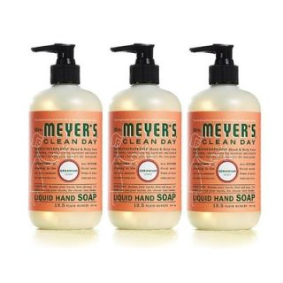 Mrs. Meyers 12.50 Oz Liquid Hand Soap with Geranium (Set of 3)   MRM