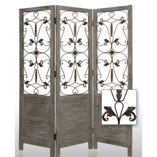 Screen Gems Hampton Decorative Room Divider in Grey   SG 55 grey