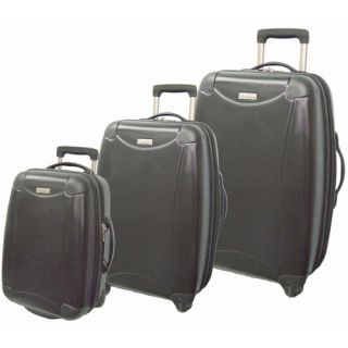 McBrine Luggage Eco friendly ABS Hardsided 3 Piece Spinner