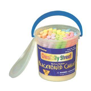 Chenille Kraft Blackboard Chalk 60 Pc Bucket Multi