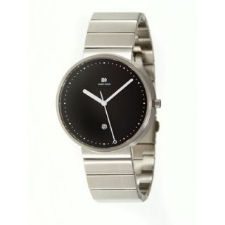 Danish Design Martin Larsen Mens Watch with Silver Circle Shaped Case
