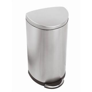 Honey Can Do 12 Liter Oval Stainless Steel Step Trash Can
