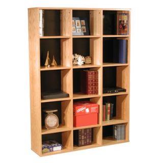 Rush Furniture Modular Real 65.5 H Organizer in Oak Wood Veneer