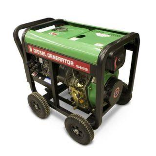 BLUE MAX 6000 Watt Diesel Generator with Wheel Kit
