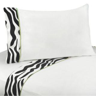 Sweet Jojo Designs Lime Funky Zebra Queen Sheet Set   QueenSheets