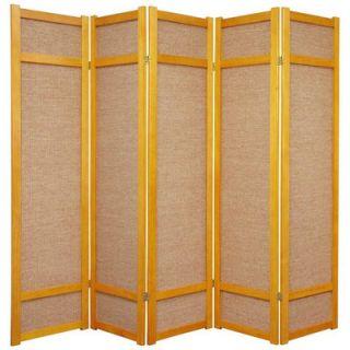 Oriental Furniture 72 Jute Shoji Screen in Honey   JKSHOJI Honey X