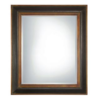 Uttermost Fabiano Rectangular Beveled Mirror in Black