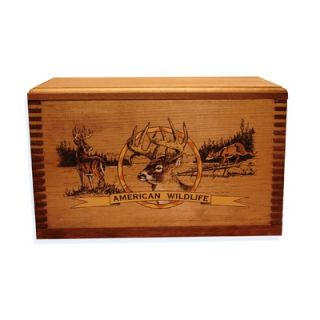 Wooden Accessory Box With Wildlife Series Deer Print   TC19 82