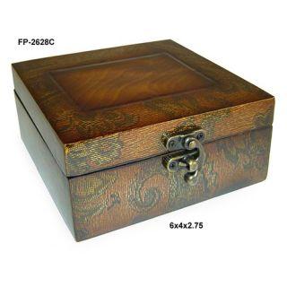 Wooden Accessory Box With Wildlife Series Turkey Print   TC19 83