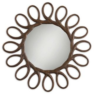 Uttermost Saltaire Mirror in Antiqued Gold Leaf