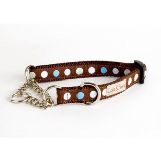 Lola and Foxy Blueberry Truffle Blue/Brown Martingale Dog Collar   1