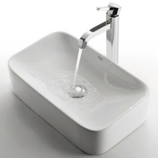 Caracalla 17.4 X 4.92 Rectangular Self Rimming Bathroom Sink