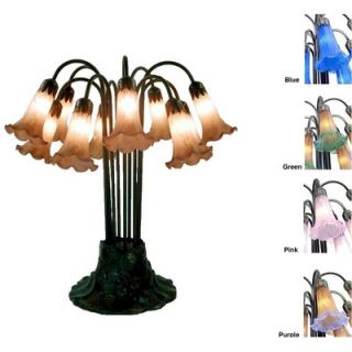 Warehouse of Tiffany Lily Pink Table Lamp   TBL10+Pink