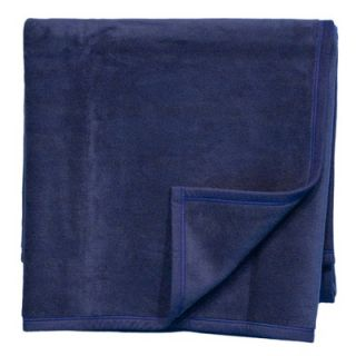Bocasa Blankets Woven Throw Blanket in Navy