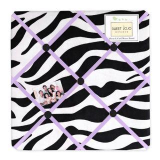 Sweet Jojo Designss Purple Funky Zebra Collection